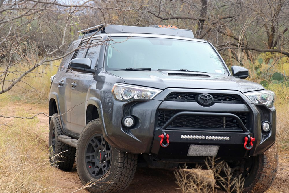 Southern Style Off-Road (SSO) Slimline Hybrid Winch Front Bumper step-By-Step Install For the 5th Gen 4Runner: Step 17. Install Remaining SSO Brackets Under 4Runner