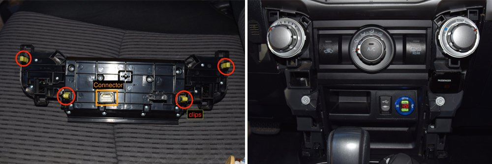 Wireless Charging System Setup + Step-By-Step Install For the 5th Gen 4Runner: Step 4C. Reinstall AC Controls