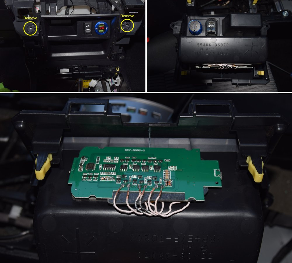 Wireless Charging System Setup + Step-By-Step Install For the 5th Gen 4Runner: Step 2C. Remove Head Unit + Power Outlet Tray