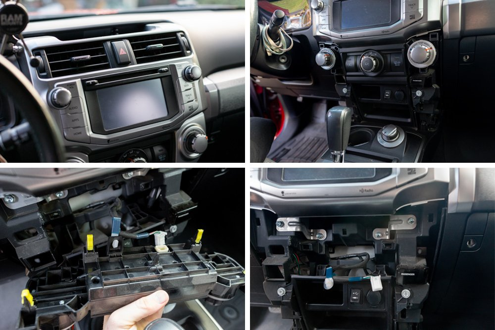 Alpine Halo9 iLX-F309FRN Step-By-Step Install and Review For the 5th Gen 4Runner: STEP 2A. Remove the Factory Head Unit