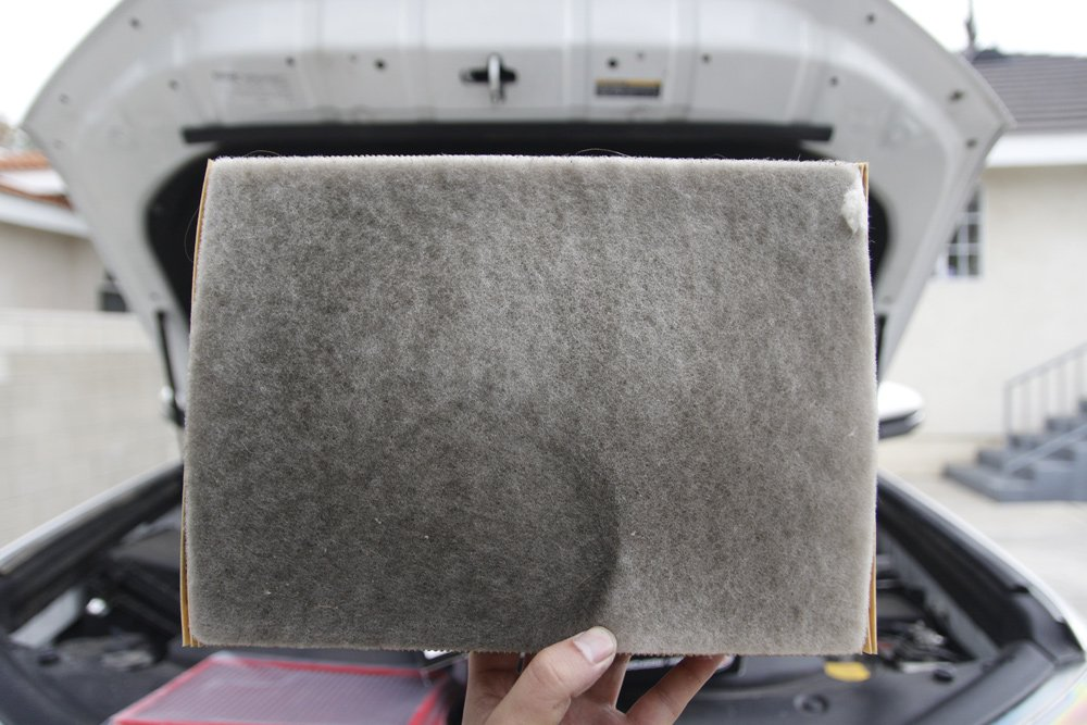 BMC High-Performance Drop-In Air Filter Review for the 5th Gen 4Runner: Dirty OEM Filter