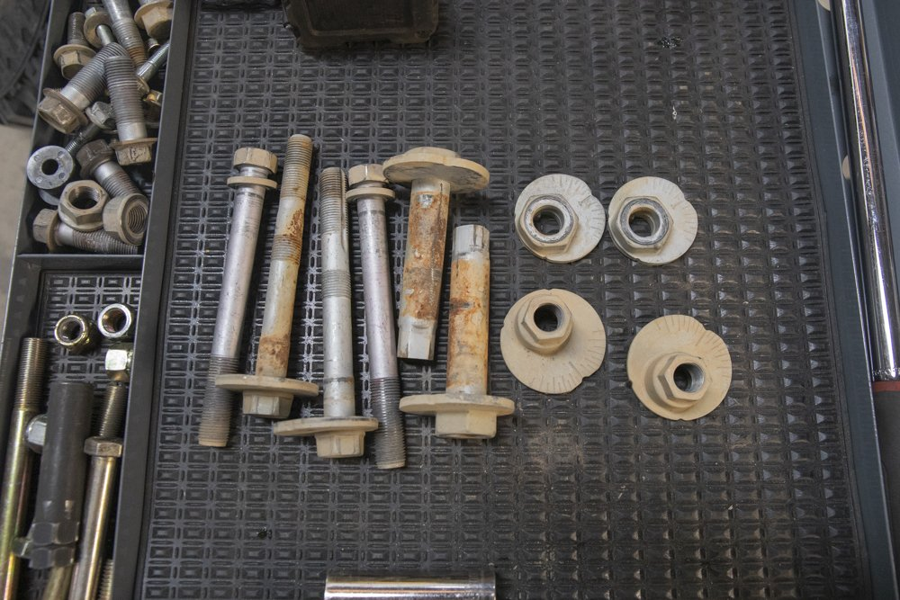 Camber Tab (cam tab) Alignment Bolts