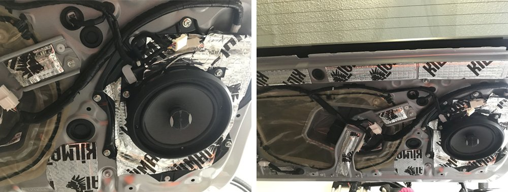 Crutchfield Focal Integration (2-Way) Speaker Upgrade Step-By-Step Install For the 5th Gen 4Runner: Step 4. Bolt On Speakers + Connect Wiring