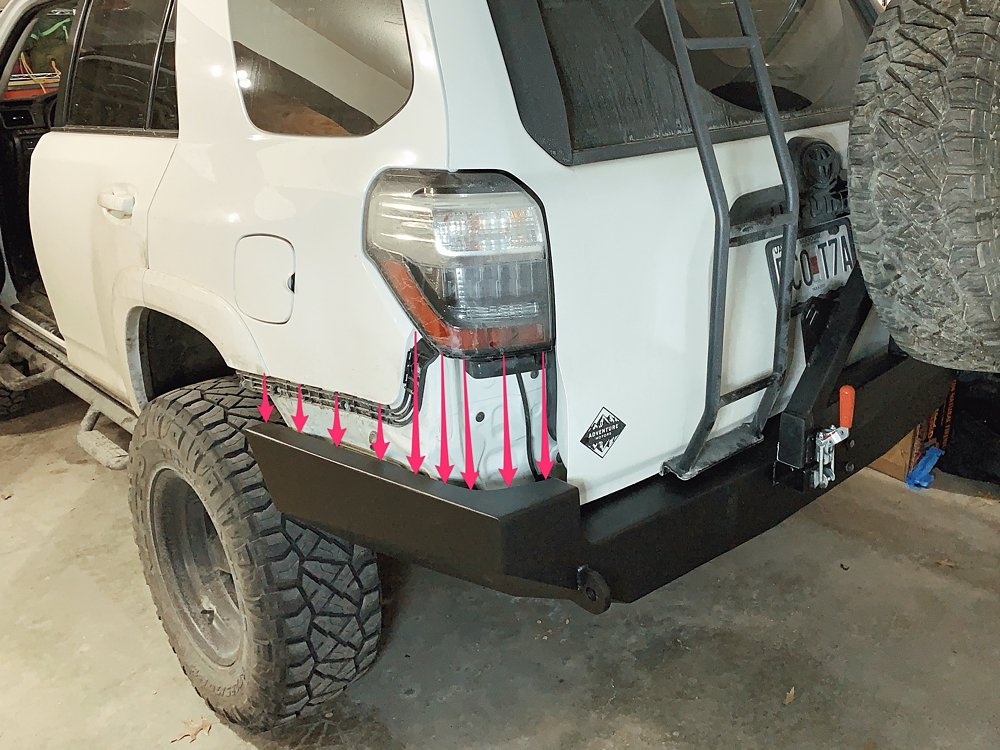 Coastal Offroad Low Profile Rear Bumper Review & Install For the 5th Gen 4Runner: Optional Rear Camera Re-Locate