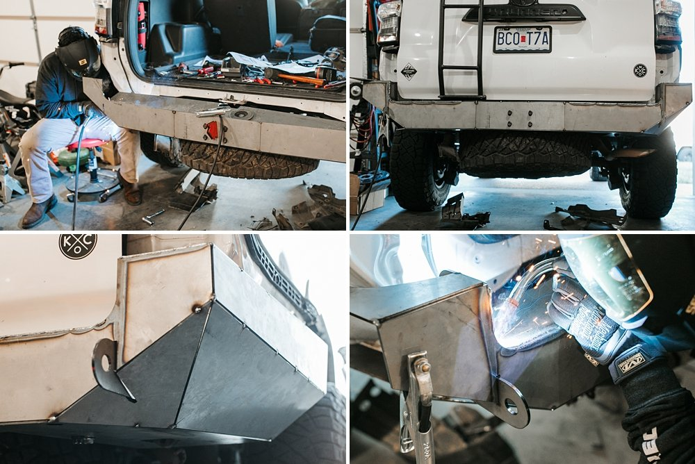 Coastal Offroad Low Profile Rear Bumper Review & Install For the 5th Gen 4Runner: Tacking and Welding