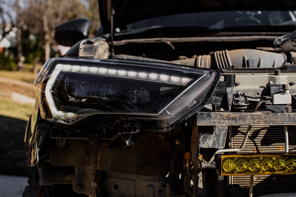 Morimoto XB LED Headlights DIY Step-By-Step Install For the 5th Gen 4Runner: Step 13. Install New Headlight & Secure with 10 Mm Bolts