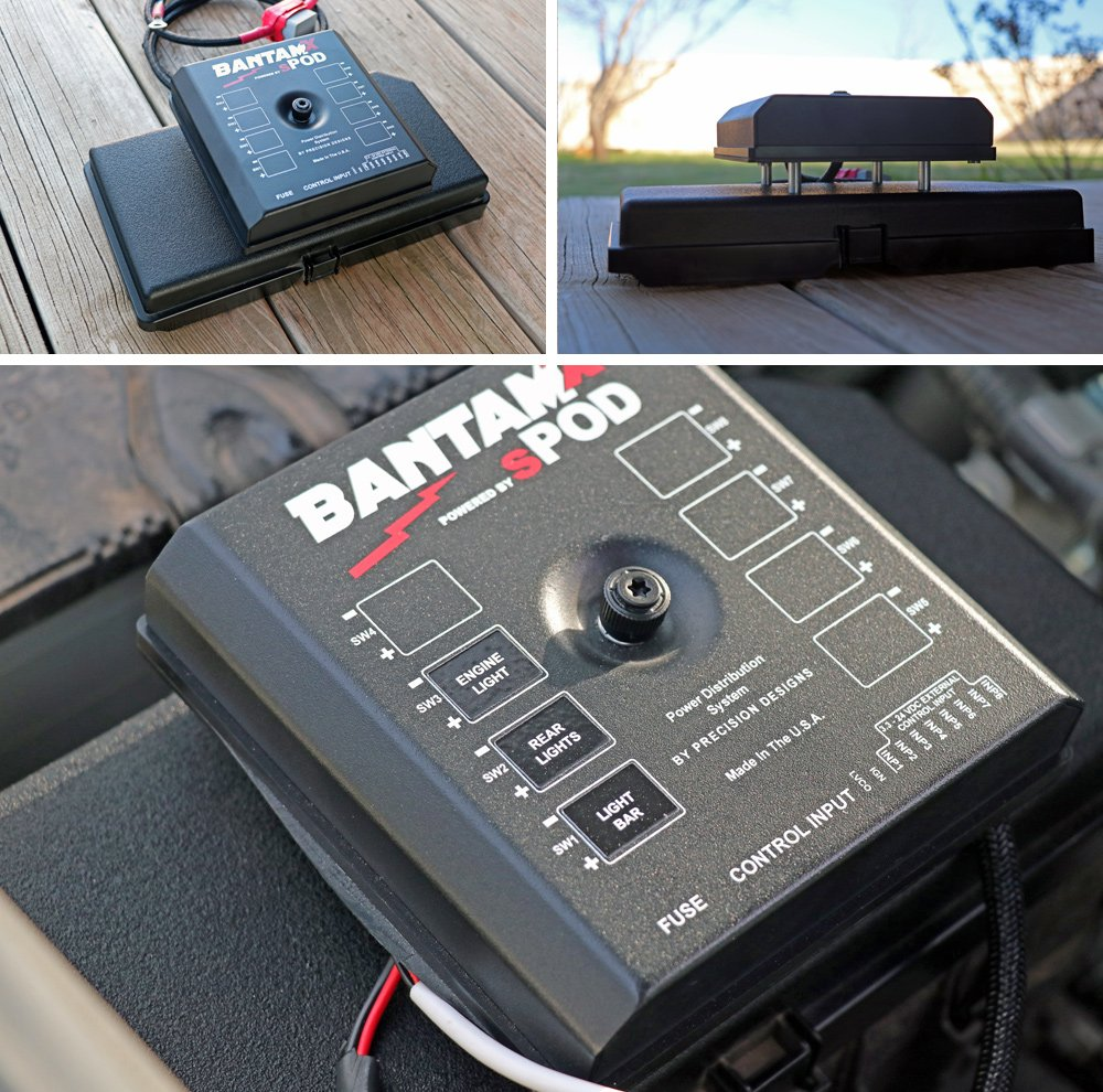 sPOD BantamX 8-Circuit Switch System Review + Step-By-Step Install For 5th Gen 4Runner: Step 2. Drill & Mount BantamX To Fuse Box Cover