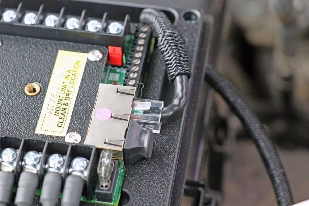 sPOD BantamX 8-Circuit Switch System Review + Step-By-Step Install For 5th Gen 4Runner: Step 9. Connect Ethernet Cable Into sPOD