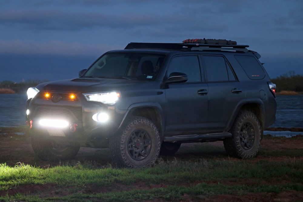 """sPOD BantamX 8-Circuit Switch System Review + Step-By-Step Install For 5th Gen 4Runner: Switch #1. Baja Designs S8 20"""" Light Bar"""