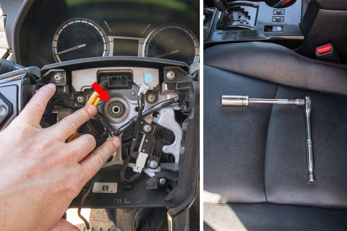 Mark Steering Colum Alignment with Steering Wheel