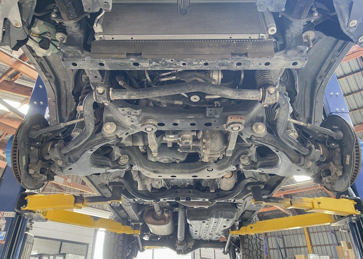 Remove Transmission Skid Plate