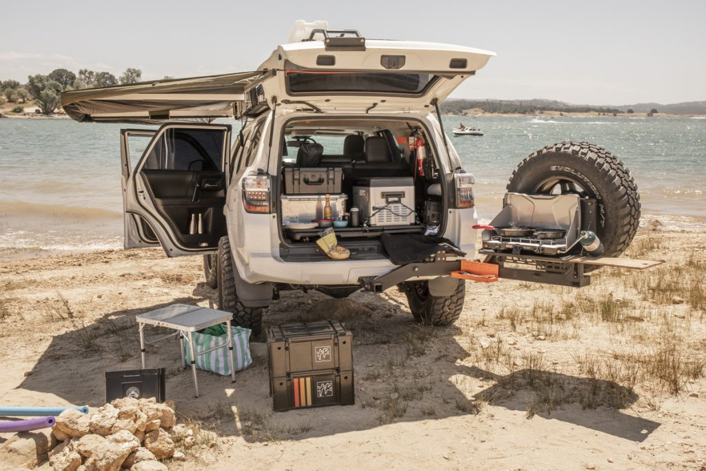 Camp Kitchen in 4Runner - Cooking in the 4Runner