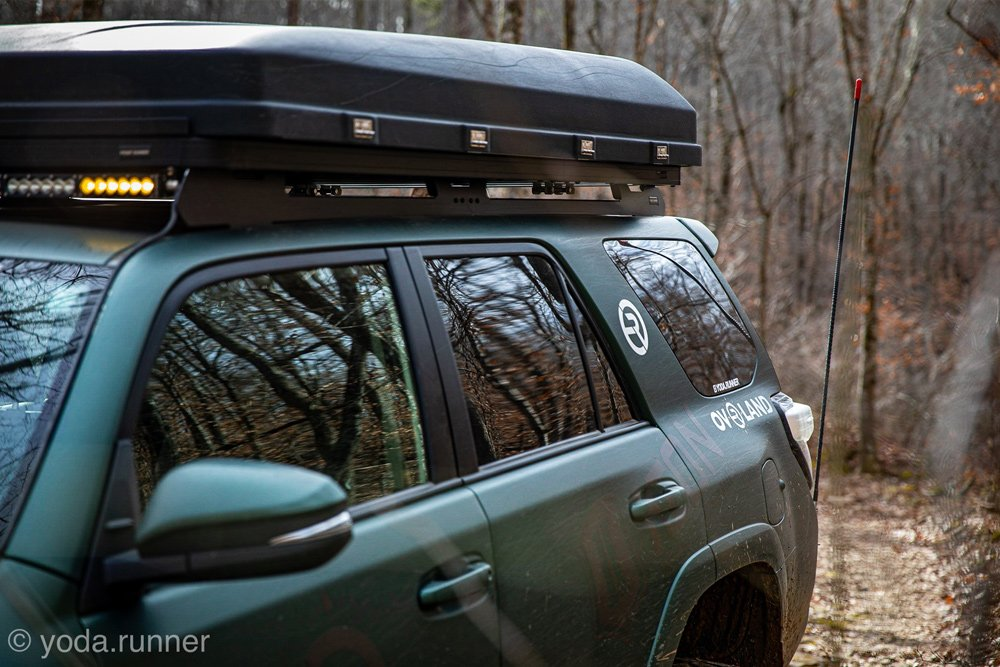 Front Runner Outfitters Slimline II on Matte Green 4Runner 5th Gen