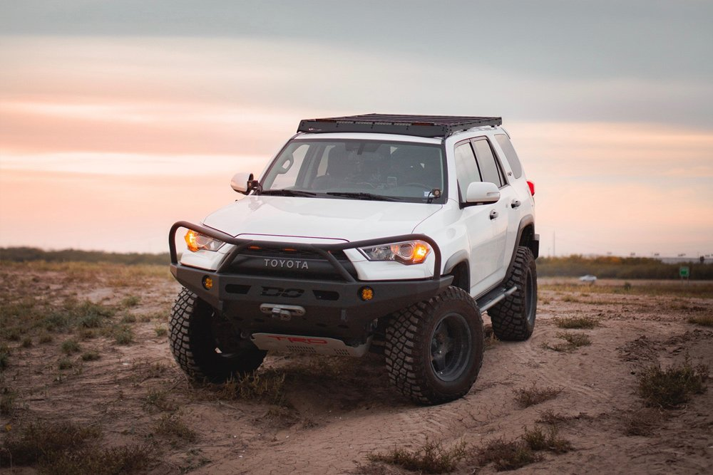 Prinsu 5th Gen 4Runner White No-Drill Full Roof Rack