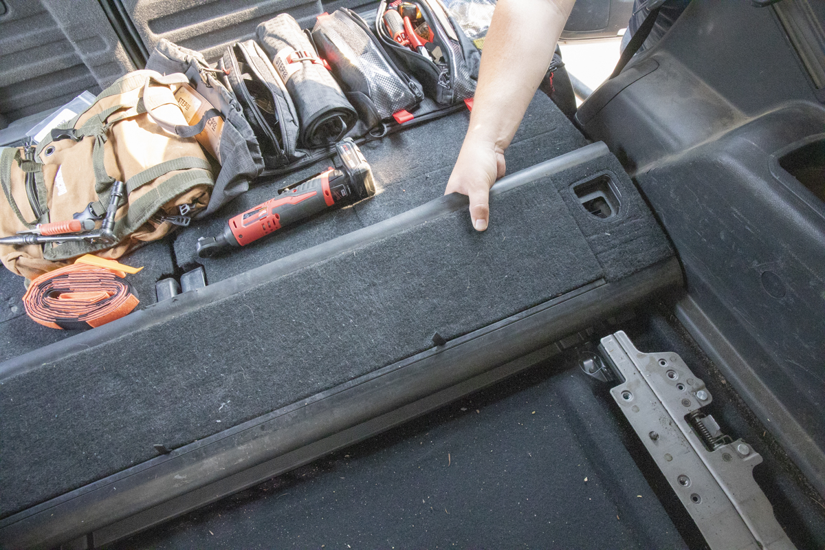 Remove Cargo Tray Storage Section