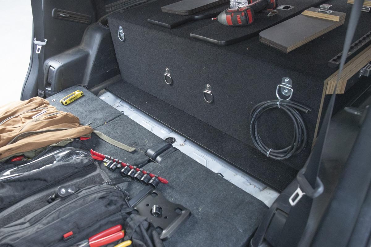 Backside of Drawer System