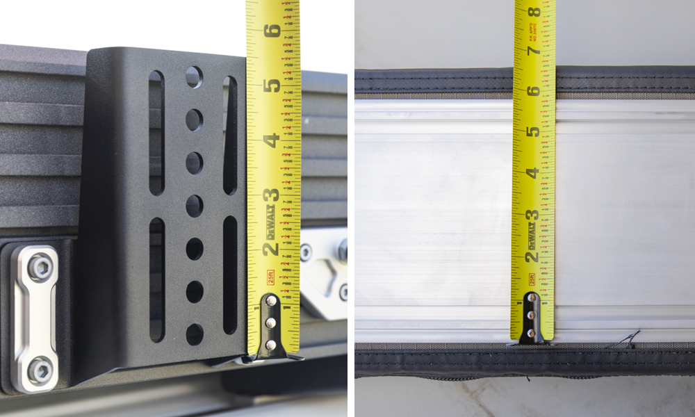 Measure Awning and Desired Mounting Brackets