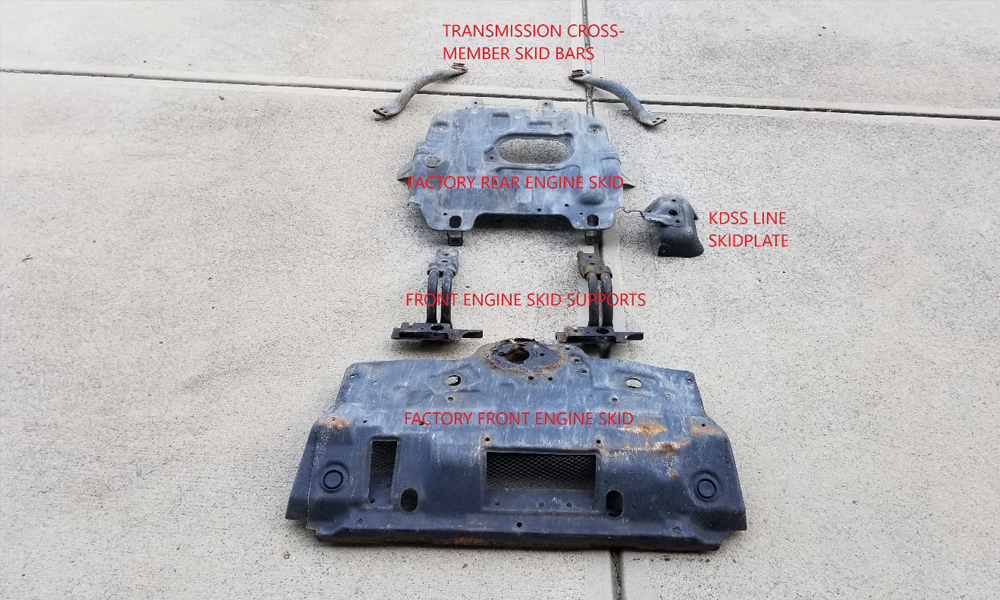 factory skid plates and brackets 2011 Toyota 4Runner