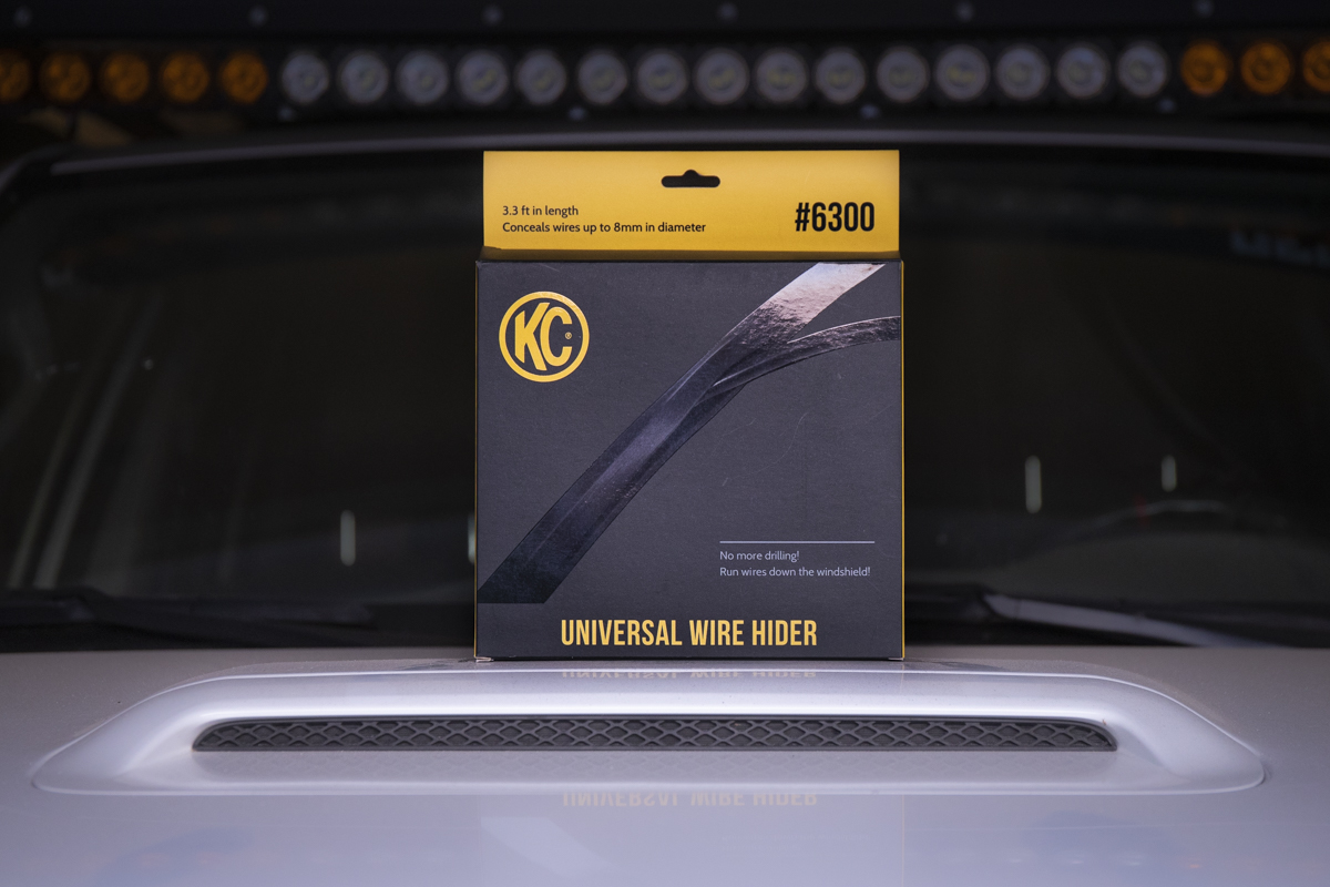 KC Wire Hider - How to Run Roof Rack Light Bar Wiring Down Your Windshield