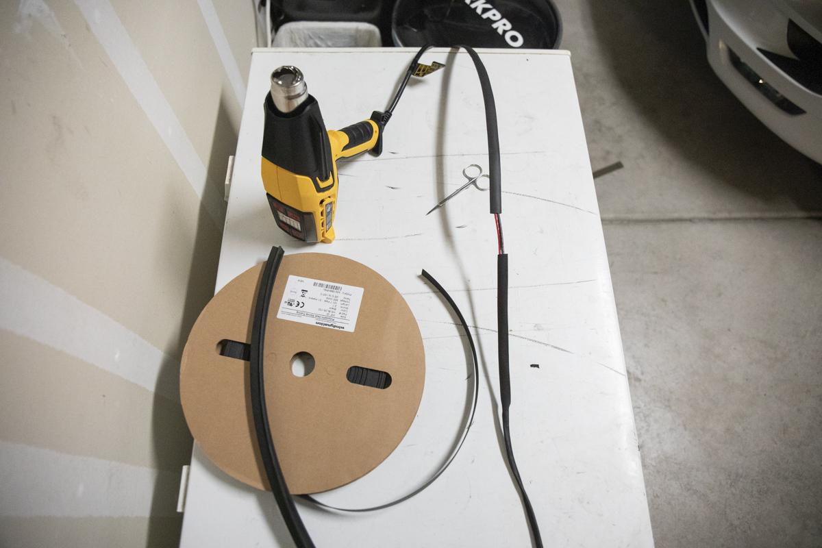 Apply heat shrink 2 wiring harness