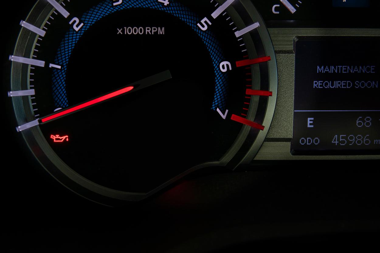 Low Engine Oil Pressure Warning Light