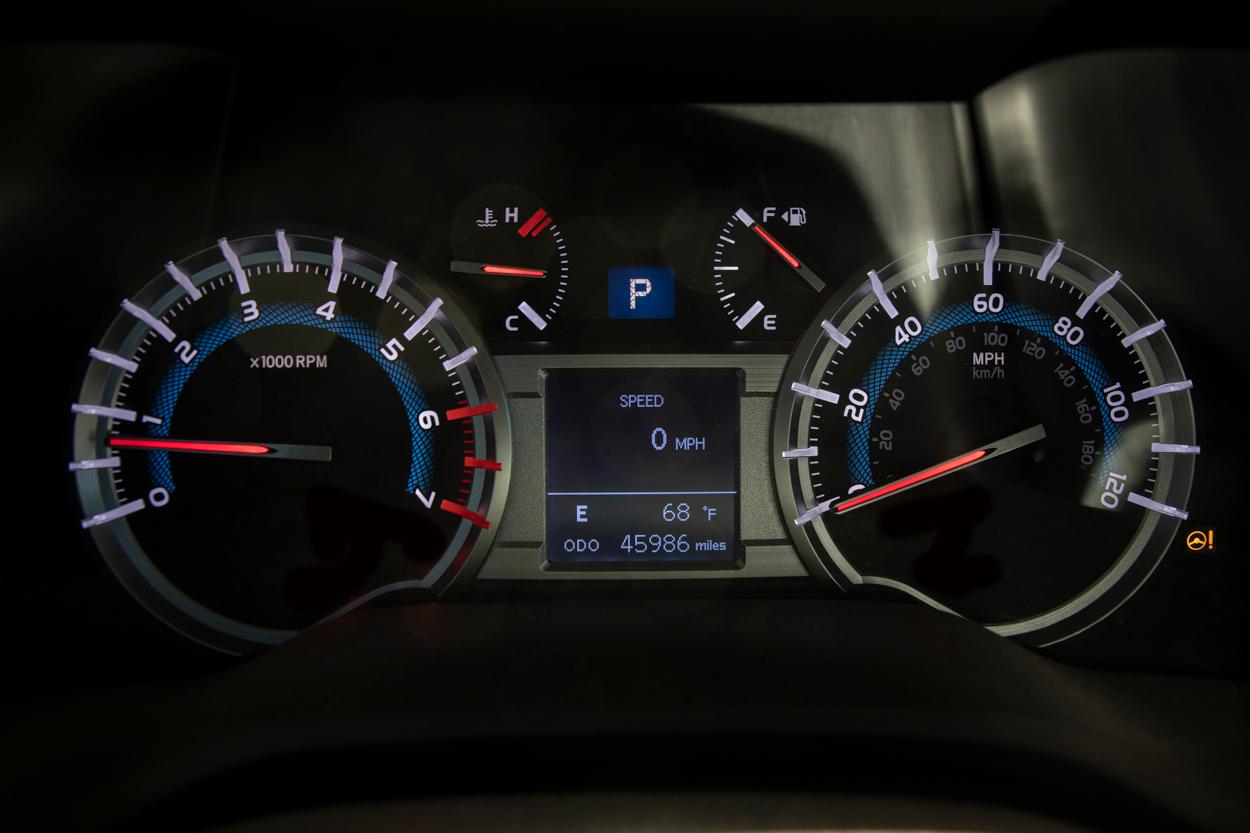 Power steering warning light