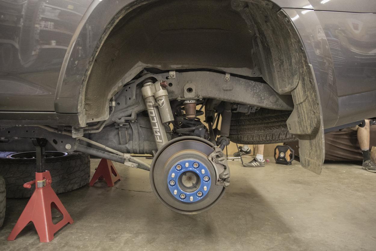 Begin Rear Suspension Installation