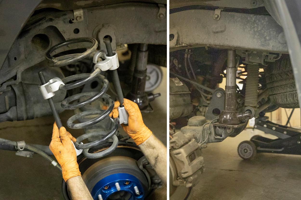 Remove rear spring
