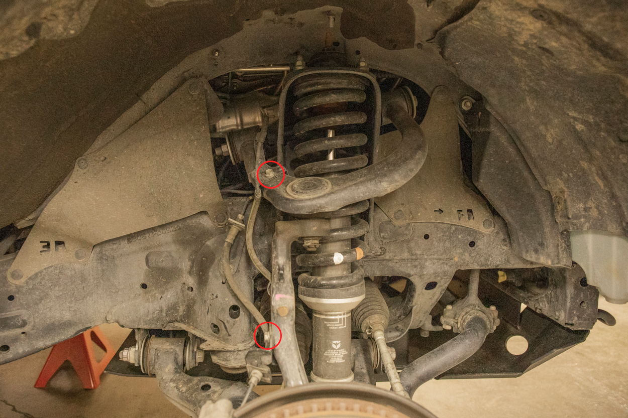 Remove upper control arm brackets