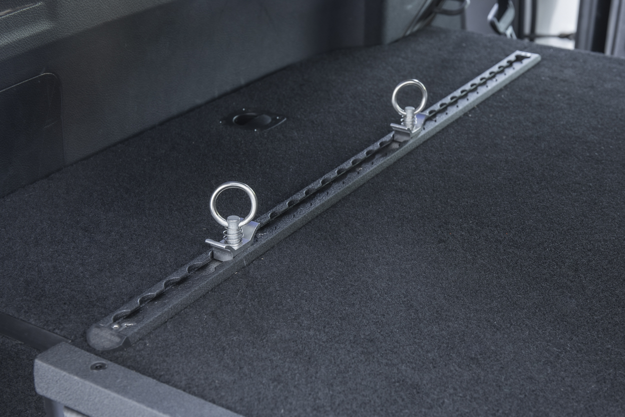 Drawer System L Track Tie-Down Rail System