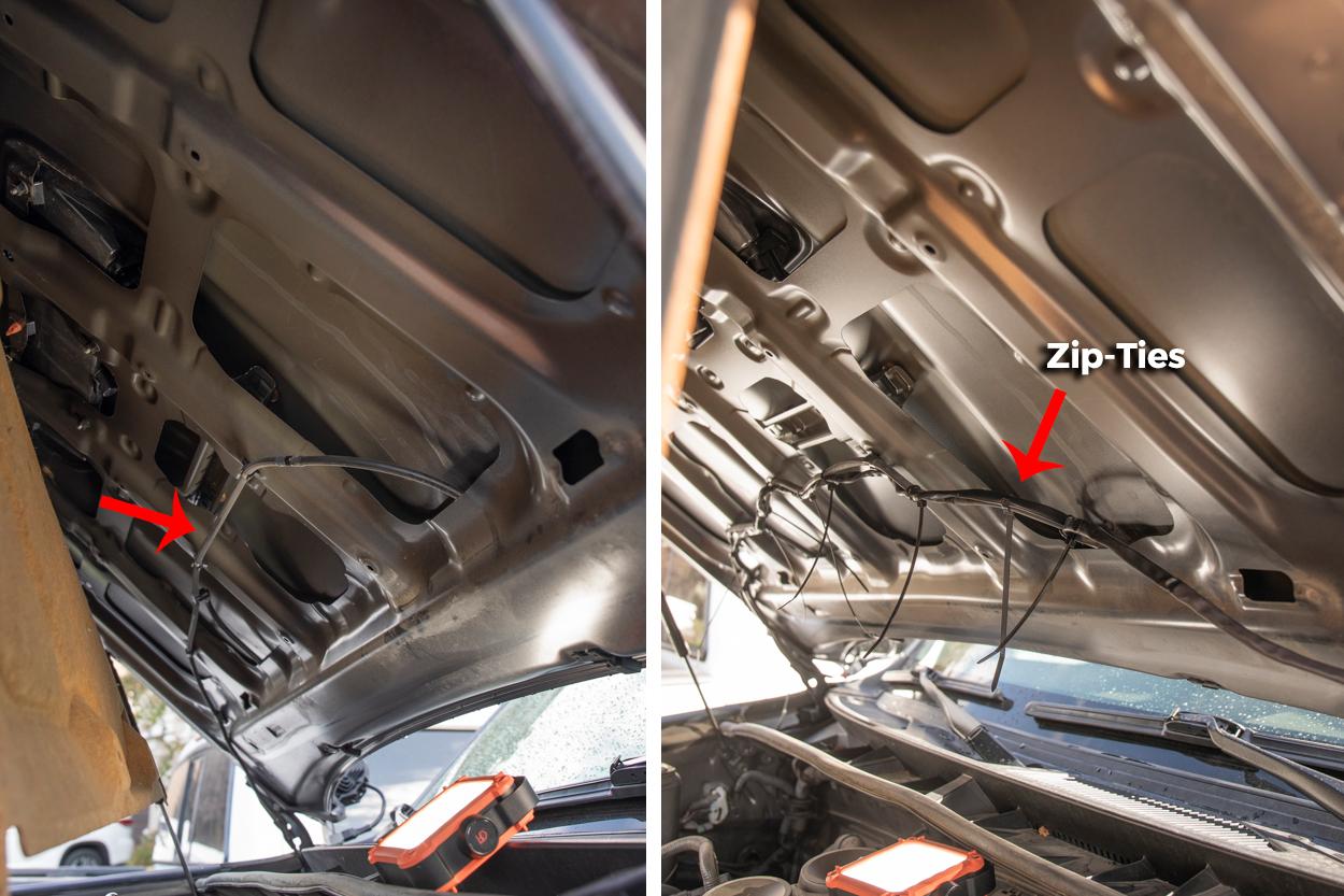 Hood insulation mat on 5th Gen 4Runner - Wiring Guide