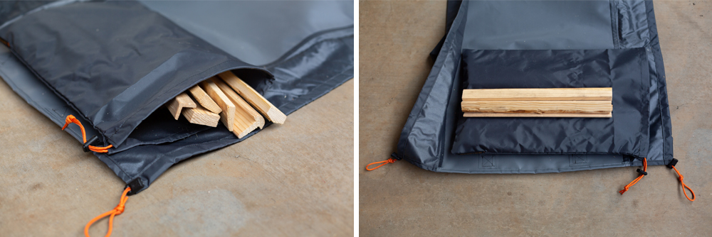 Introducing the High Road Adventure Gear's WoodGaiter For Packing Wood Easy and Clean in the 5th Gen 4Runner