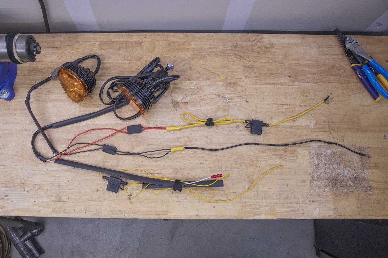 Cut wiring harness to size