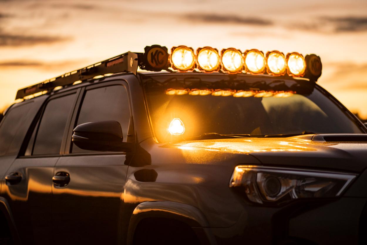 KC HiLiTES Pro6 Roof Rack on Toyota 4Runner