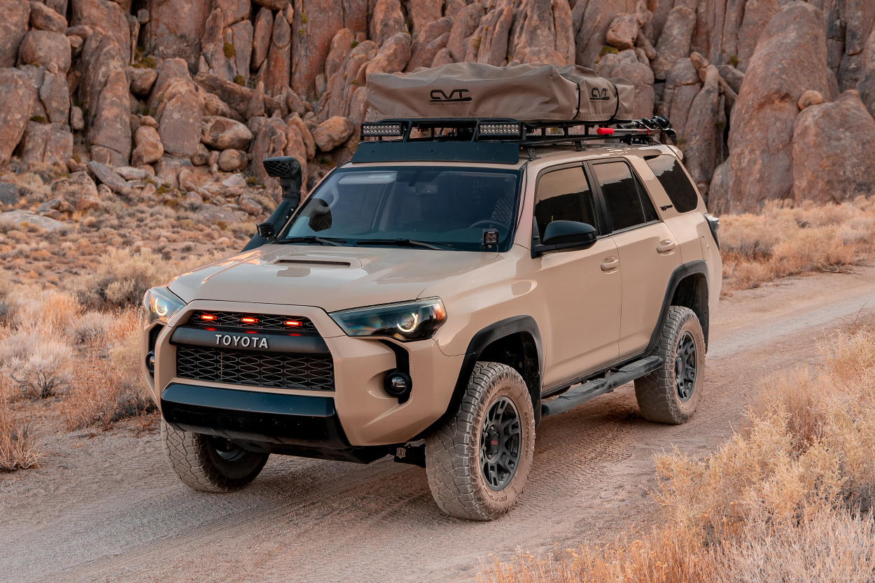 Quicksand 5th Gen Overland 4Runner build with Gobi Rack and Rooftop Tent