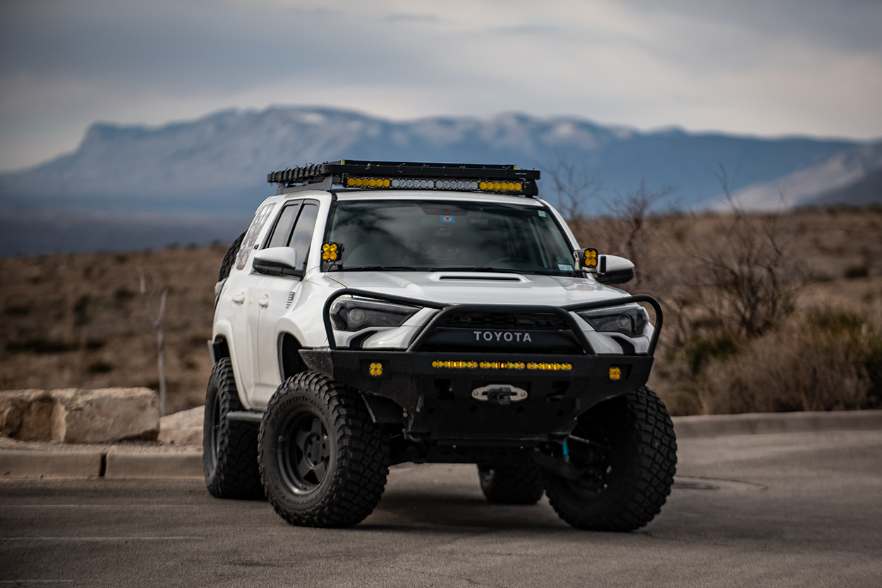 Black Rhino Wheels - Realm SEMI GLOSS BLACK on 5th Gen 4Runner White