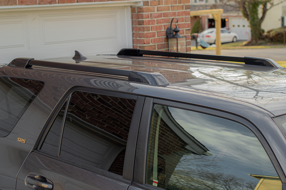 Blackout Roof Rack Kit for Toyota 4Runner - With Mounting Base & Caps