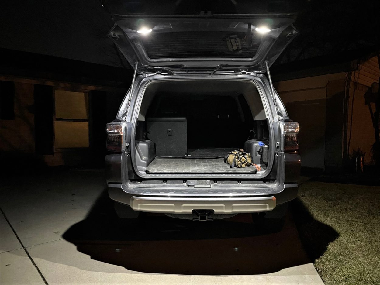LasFit White Cargo + Map LED Bulbs Install Overview & Review For the 5th Gen 4Runner