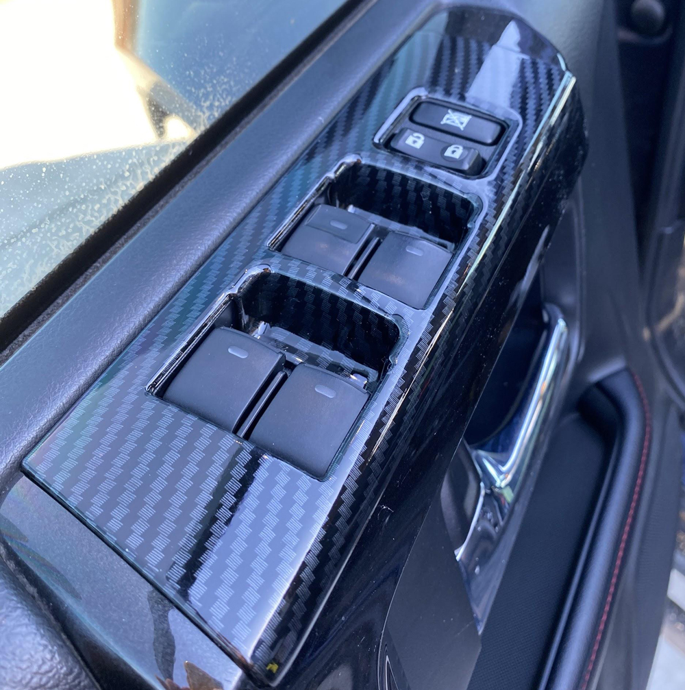 Car Trim Home Carbon Fiber Window Switches Cover for 5th Gen 4Runner