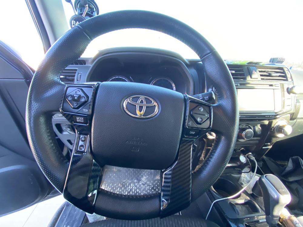 Car Trim Home Carbon Fiber Steering Wheel Cover for 5th Gen 4Runner