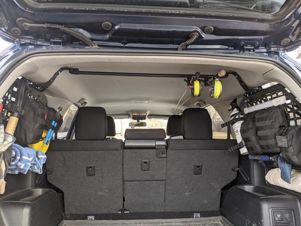 4Runner Rear Trunk Storage and DIY Fishing Rod Holder