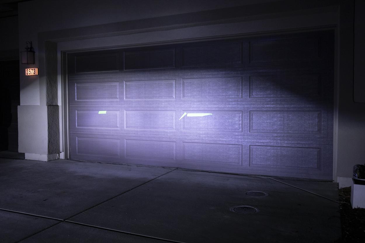 After Morimoto LED Projector Retrofit High Beam Beam
