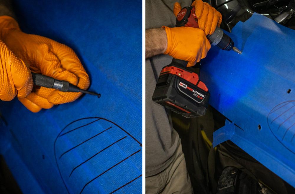 Drilling Holes in 4Runner Fender for ARB Safari Snorkel