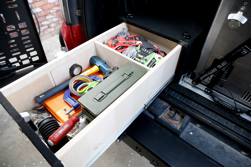5th Gen 4Runner Drawer System for Camping Gear - Organizer System