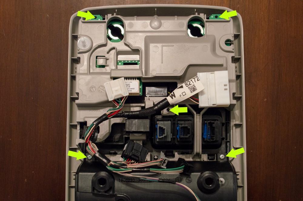 5th Gen 4Runner Map Light Reflector Hardware Removal