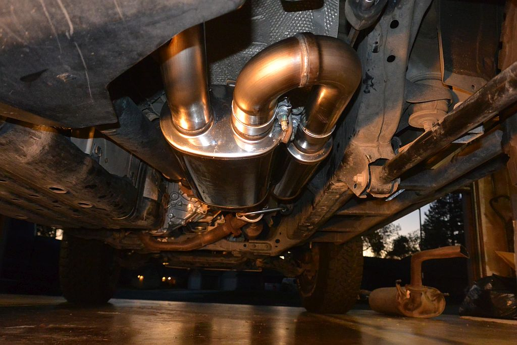 Completed install of new exhaust system