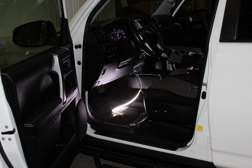 5th Gen 4Runner LED Footwell Light Strip Installation