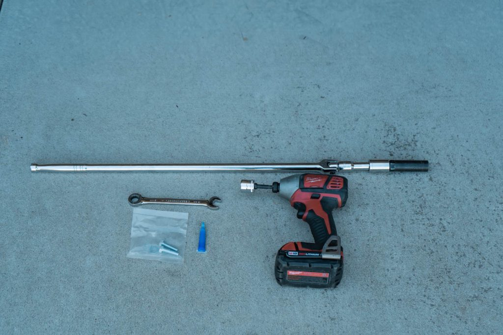 Tools and Materials for Bump Stop Installation