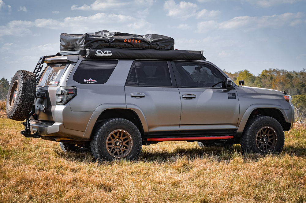 5th Gen Overland 4Runner Wrapped Matte Black with Morimoto XB Taillights