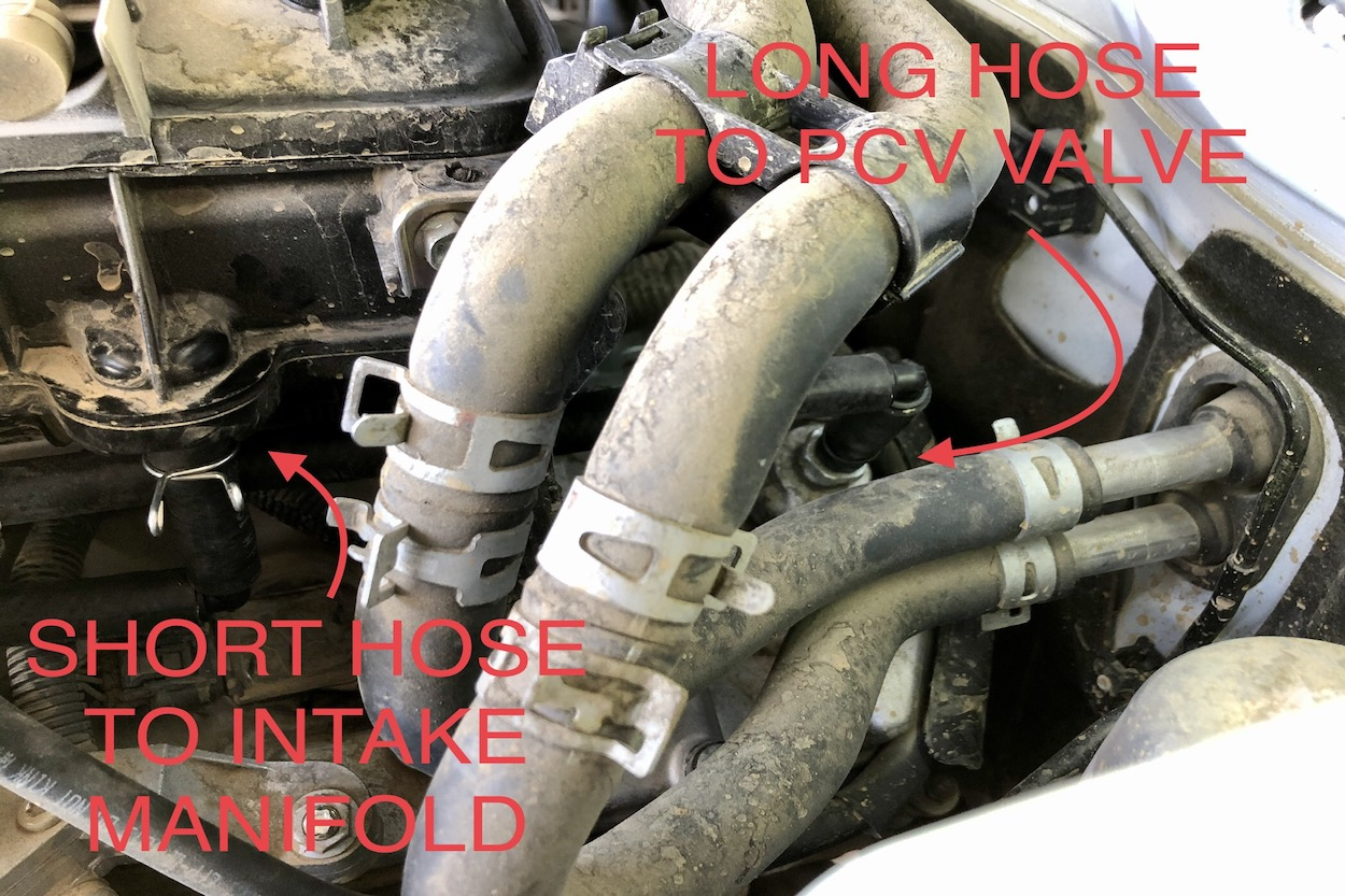 5th Gen 4Runner 4.0L PCV Hose Location